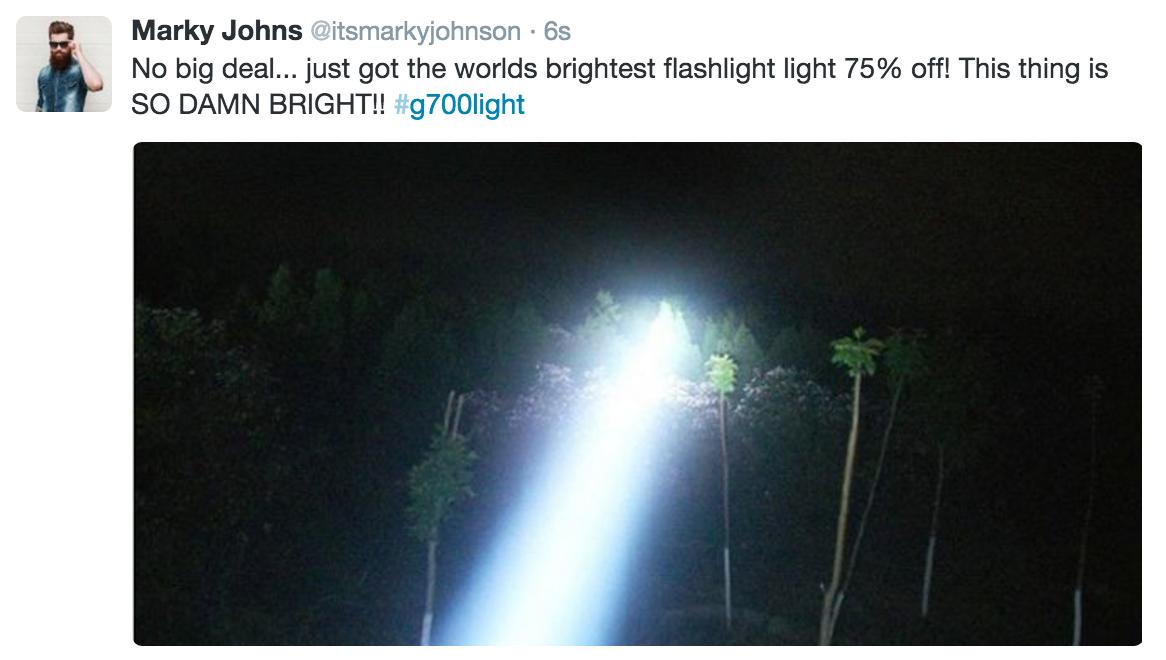 powerful outdoor led flashlight