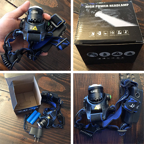 TL 900 Tactical Headlamp Package Content
