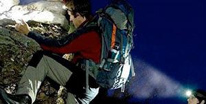 climbers with tactical flashlight primitive survivors