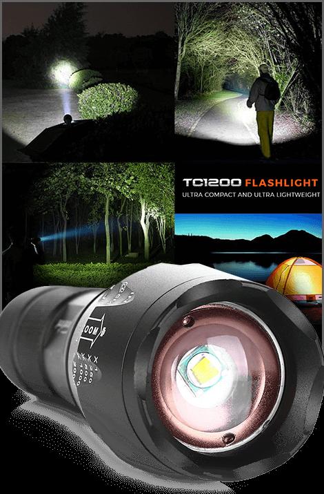 1Tac-TC1200 Tactical Flashlight
