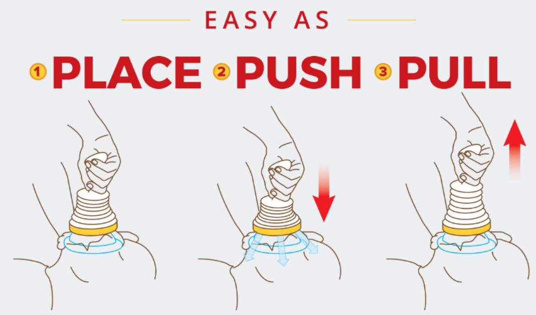how do you use the lifevac Place Push Pull